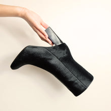 Load image into Gallery viewer, Kosedy Nairobi Black Nero Pony Boot Block Heel