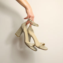 Load image into Gallery viewer, Kosedy Serengeti Nude Beige Sandal Block Heel