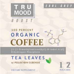 Tru Mood Boost | Earl Grey Organic Coffee Leaf Tea w/Psilocybin Cubensis Mushroom
