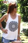Ethnic white tank top
