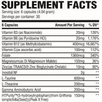 Calm Supplement Facts