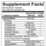 Digest Aid Supplement Facts