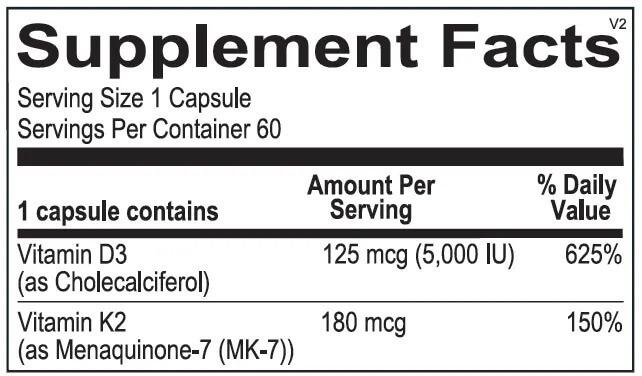 K2 + D3 Supplement Facts