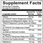 Multi Mineral Supplement Facts