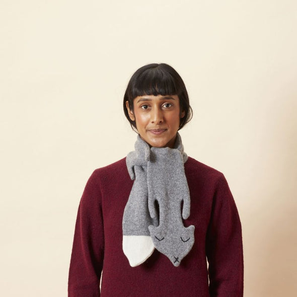Wool Scarf: Grey Fox