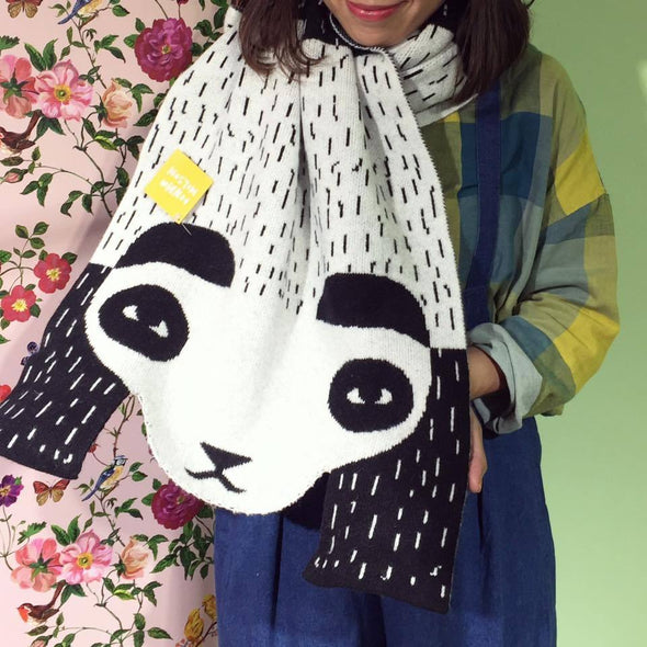 Wool Shawl: Panda