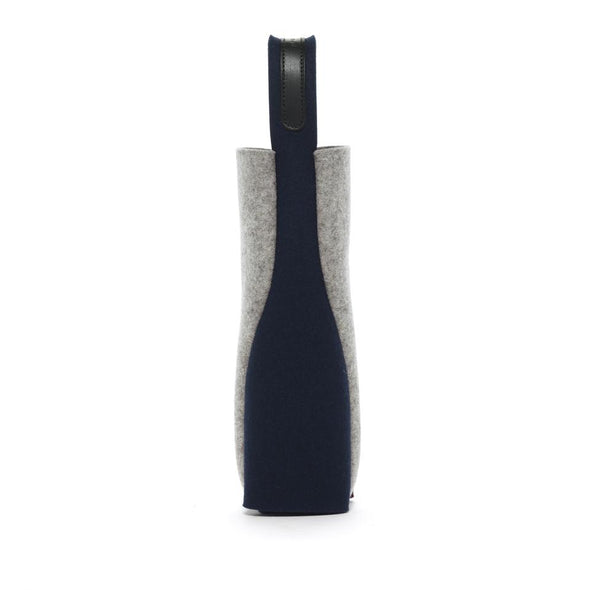 Felt Wine Carrier: Blue/Black