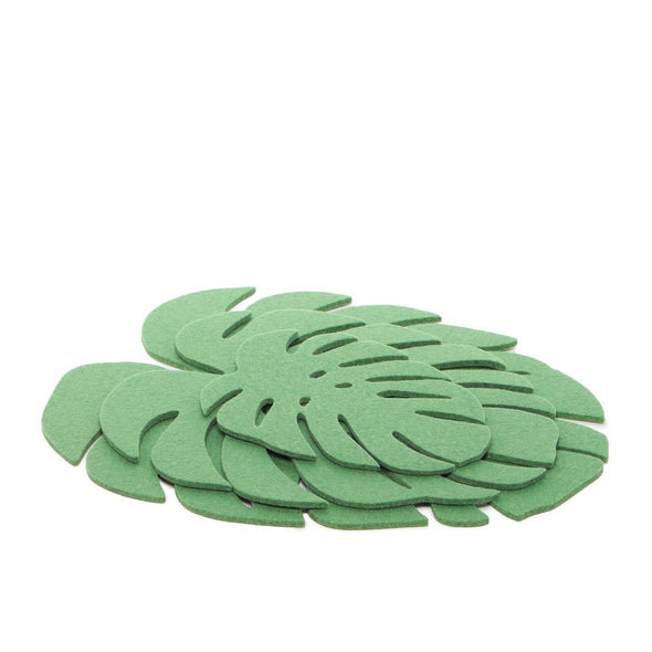 Felt Leaf Trivet: Medium Matcha