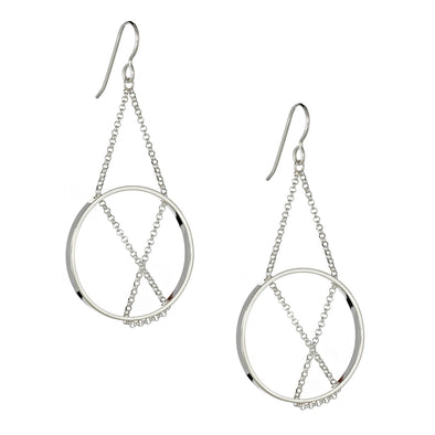 Earrings: Inner Circle in Sterling Silver