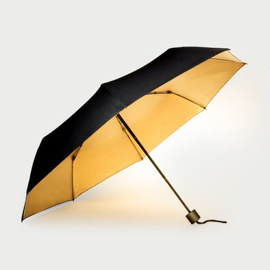 Black and Gold Umbrella