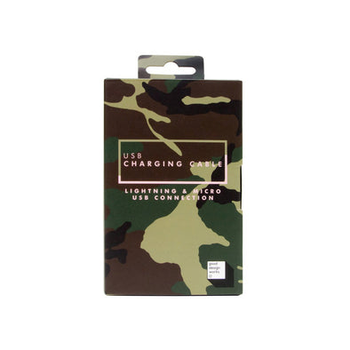 USB Phone Charger Cable: Camo