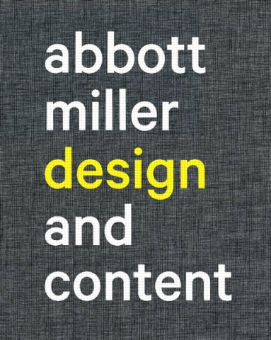 Abbott Miller: Design and Content
