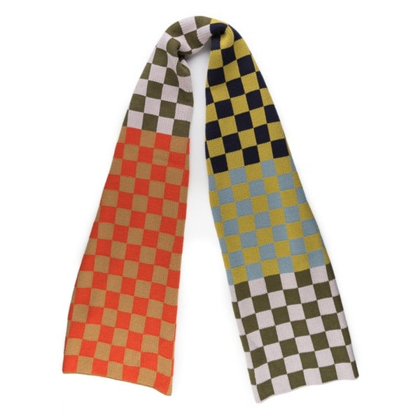 Checkerboard Camel Scarf