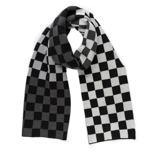 Checkerboard Black + White Scarf