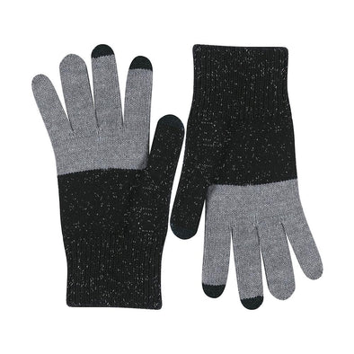 Tech Gloves: Silver/Black