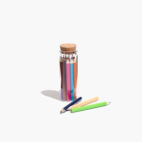 Colored Pencil Set in Glass Jar