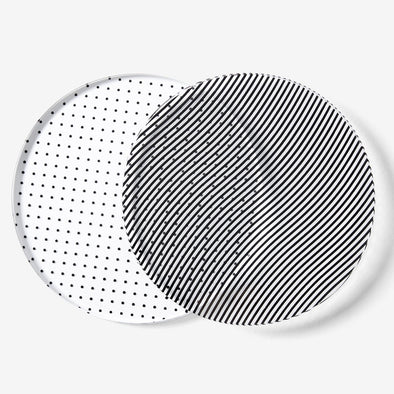 Glass Grid Coasters: Dot/Wave