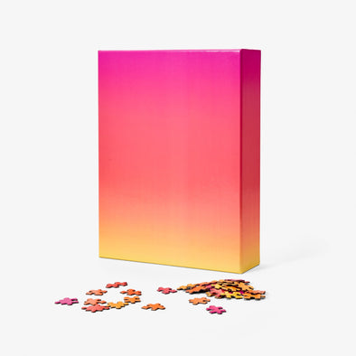 Large Gradient Puzzle: Pink/Orange/Yellow