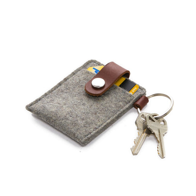 Felt Card Case: Granite/Sienna