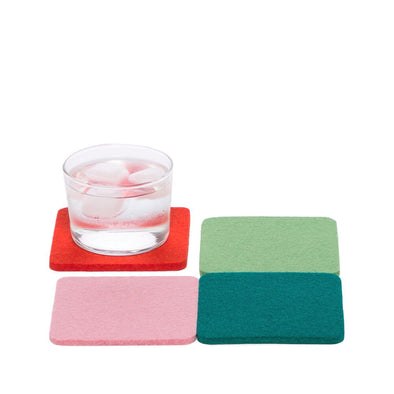 Felt Coasters: Happy