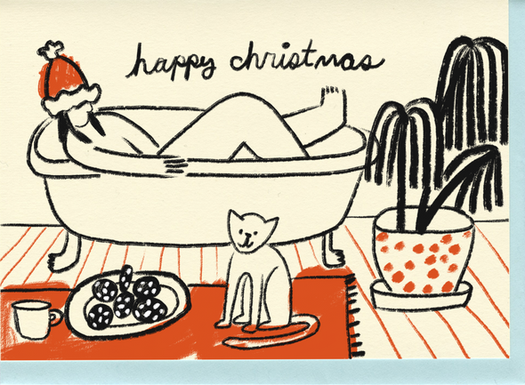 Card Box Set: Christmas Bath