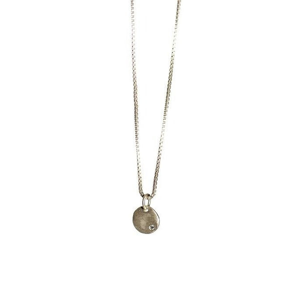 Necklace: Small Round with Diamond