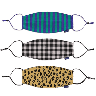 Fabric Masks: Gingham, Leopard, Stripe