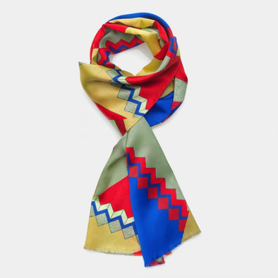 MEMPHIS MILANO: Red Blue Scarf