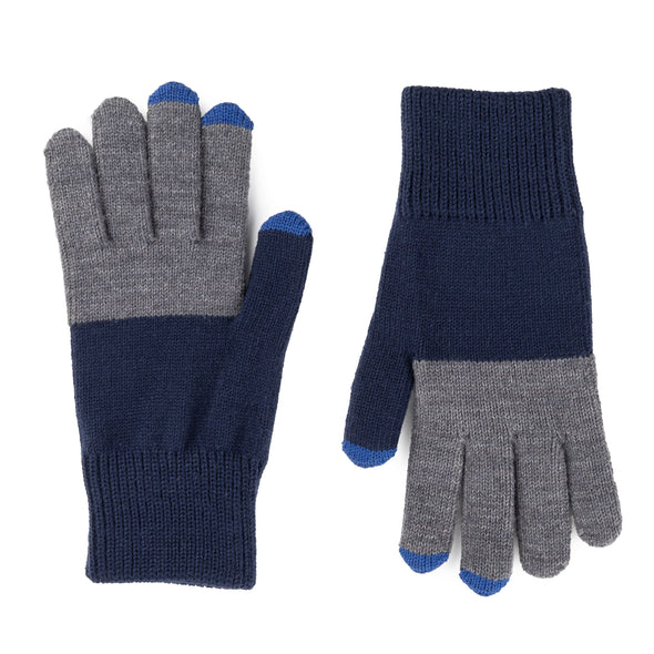 Tech Gloves: Navy / Grey