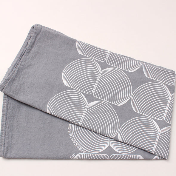 Tea Towel: Onion Grey/White