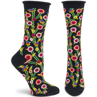 Socks: Beautious Buds Black