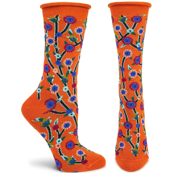 Socks: Beautious Buds Orange