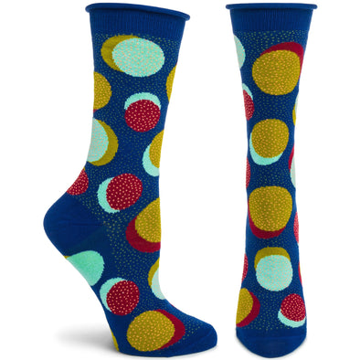 Socks: Spots N'Dots Navy
