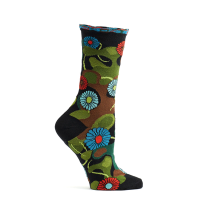 Socks: Flower Camo Black