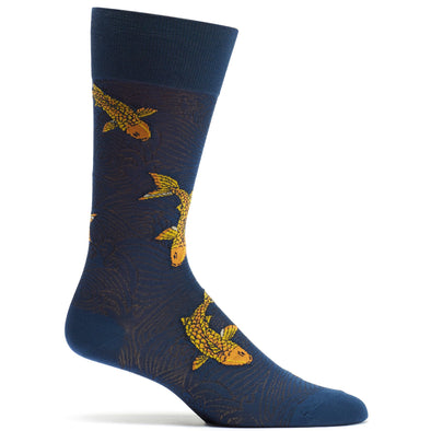 Socks: Drifting Koi Navy