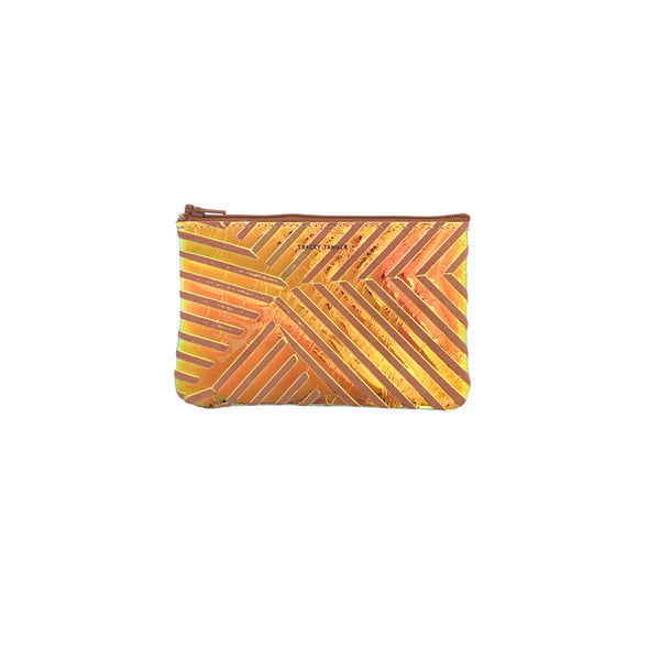 Small Zip Pouch: Iridescent Shanghai