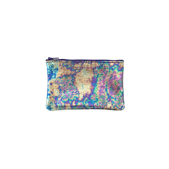 Small Zip Pouch: Oil Slick
