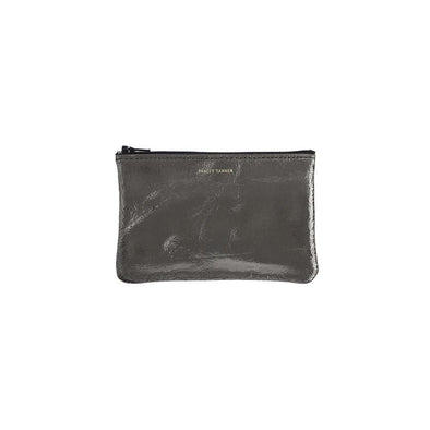 Small Zip Pouch: Foil Gunmetal