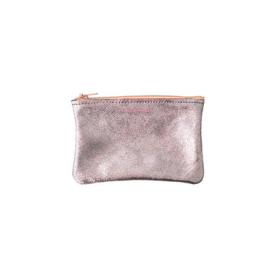 Small Zip Pouch: Lavender Peach