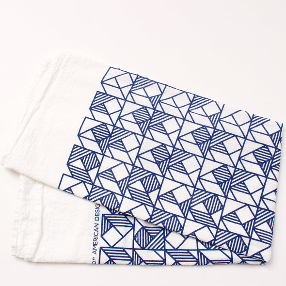 Tea Towel: Geo Squares Natural