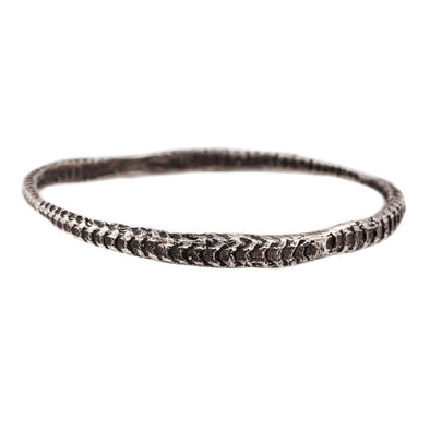 Bangle: Oxidized Silver Starfish