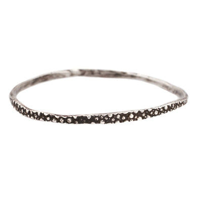Bangle: Oxidized Silver Stingray