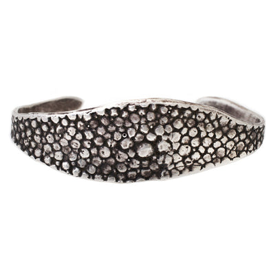 Cuff: Oxidized Silver Stingray