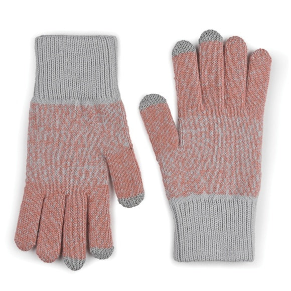 Gloves: Gradient Twist Coral