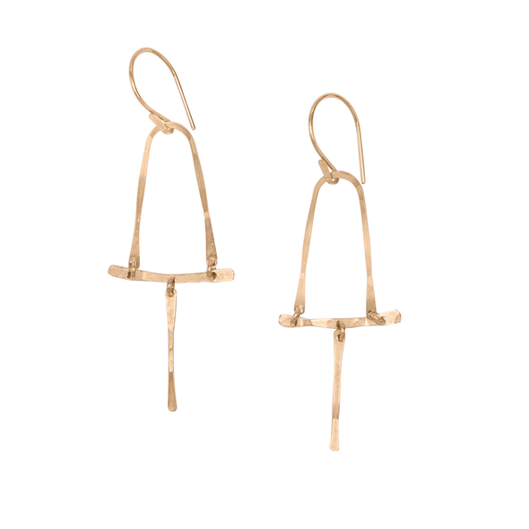 Earring:  Visky Hook Gold