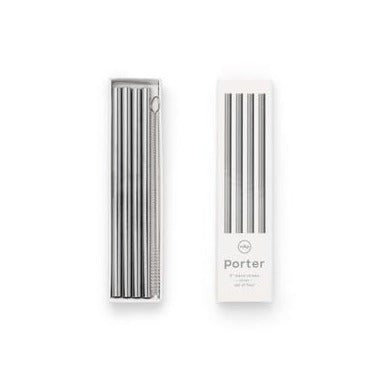 Metal Straws: Silver Set/4