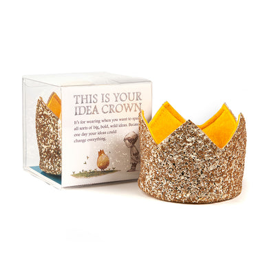 Gold Glitter Idea Crown