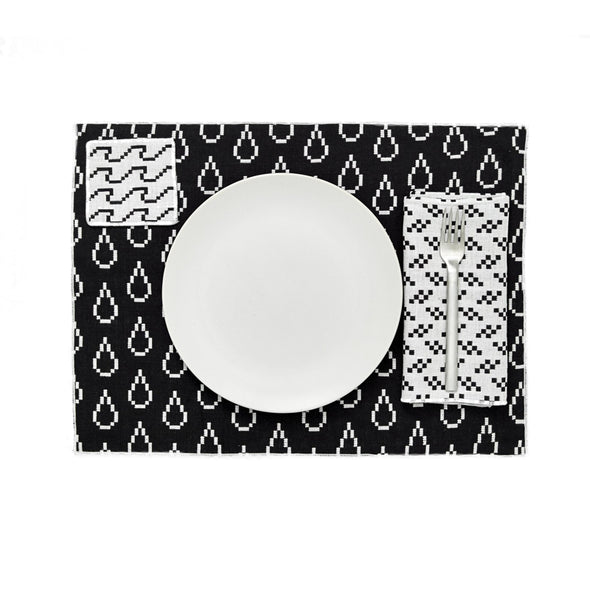 Bitmap Placemats: Black