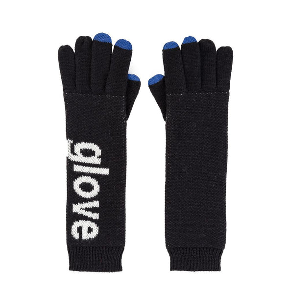 Gloves: Typography Black