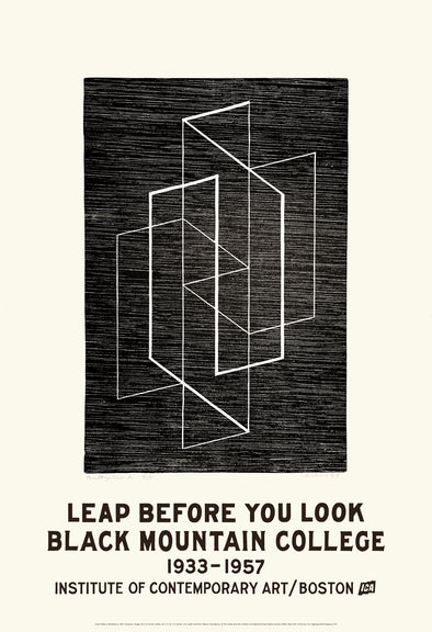 Leap Before You Look Exhibition Poster